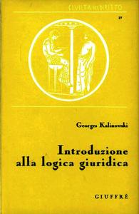 Libro Introduzione alla logica giuridica Georges Kalinowski