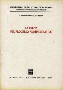 La prova nel processo amministrativo
