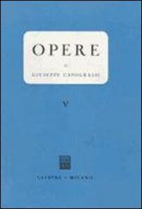 Libro Opere. Vol. 5 Giuseppe Capograssi