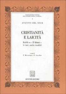 Foto Cover di Cristianità e laicità. Scritti su «Il Sabato» (e vari, anche inediti), Libro di Augusto Del Noce, edito da Giuffrè