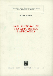 Libro La compensazione tra autotutela e autonomia Marina Petrone