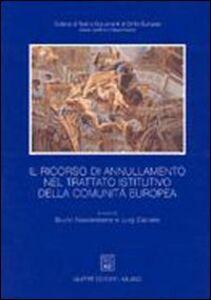 Libro Il ricorso di annullamento nel trattato istitutivo della Comunità europea