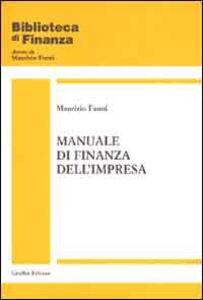 Foto Cover di Manuale di finanza dell'impresa, Libro di Maurizio Fanni, edito da Giuffrè