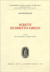 Scritti di diritto greco