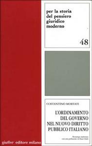Libro L' ordinamento del governo nel nuovo diritto pubblico italiano Costantino Mortati