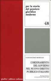 L' ordinamento del governo nel nuovo diritto pubblico italiano