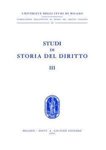 Libro Studi di storia del diritto. Vol. 3