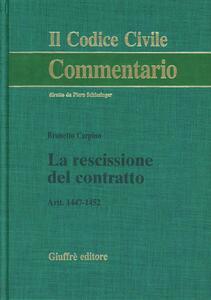 La rescissione del contratto. Artt. 1447-1452