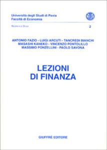 Foto Cover di Lezioni di finanza, Libro di  edito da Giuffrè