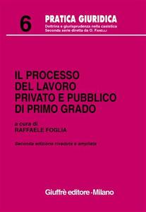 Libro Il processo del lavoro privato e pubblico di primo grado