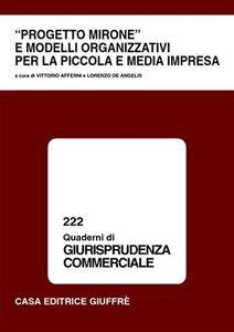 Libro Progetto Mirone e modelli organizzativi per la piccola e media impresa