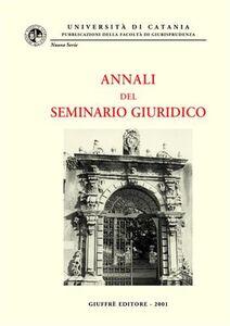 Foto Cover di Annali del seminario giuridico (1999-2000), Libro di  edito da Giuffrè