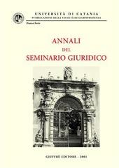 Annali del seminario giuridico (1999-2000)