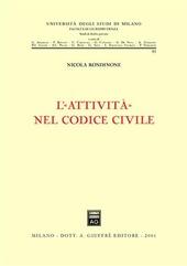 L' attività nel Codice civile