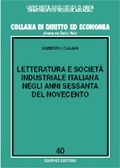Letteratura e società industriale italiana negli anni Sessanta del Novecento