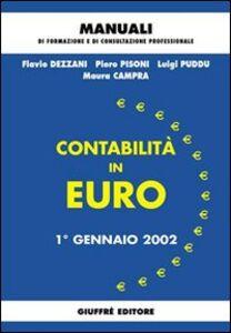 Libro Contabilità in euro. 1º gennaio 2002