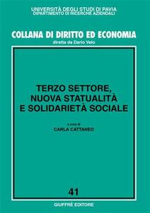 Libro Terzo settore, nuova statualità e solidarietà sociale
