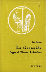 Libro La tirannide Leo Strauss