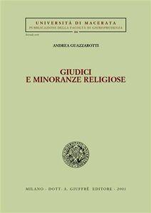 Libro Giudici e minoranze religiose Andrea Guazzarotti