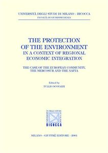 Libro The protection of the environment in a context of regional economic integration. The case of the european community, the mercosur and the nafta