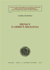 Libro Privacy e libertà religiosa Valeria Pignedoli