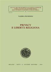 Privacy e libertà religiosa
