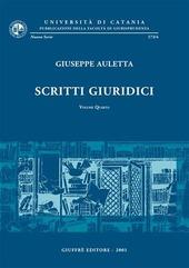 Scritti giuridici. Vol. 4
