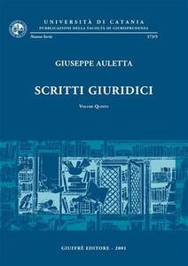 Scritti giuridici. Vol. 5