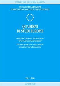 Foto Cover di Quaderni di studi europei (2001). Vol. 1, Libro di  edito da Giuffrè