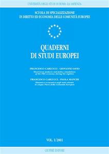 Libro Quaderni di studi europei (2001). Vol. 1