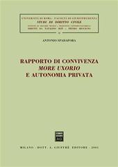 Rapporto di convivenza more uxorio e autonomia privata