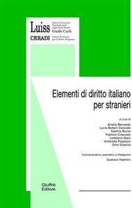 Libro Elementi di diritto italiano per stranieri