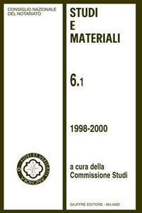 Foto Cover di Studi e materiali. Vol. 6: 1998-2000., Libro di  edito da Giuffrè