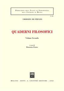 Quaderni filosofici. Vol. 2