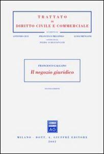 Libro Il negozio giuridico Francesco Galgano