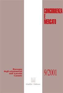 Concorrenza e mercato. Rassegna degli orientamenti dell'autorità garante (2001) - copertina