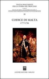 Codice di Malta 1777-1784
