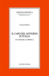 Il capo del governo in Italia. Una ricerca empirica