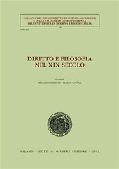 Diritto e filosofia nel XIX secolo. Atti del Seminario di studi (Università di Modena, 24 marzo 2000)