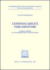 L' insindacabilità parlamentare. Teoria e prassi di una prerogativa costituzionale