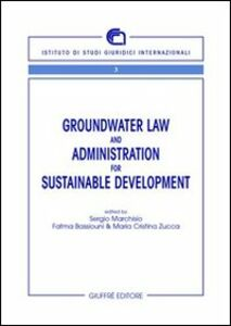 Libro Groundwater law and administration for sustainable development