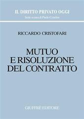 Mutuo e risoluzione del contratto
