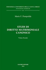 Libro Studi di diritto matrimoniale canonico. Vol. 2 Mario F. Pompedda