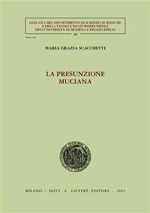 Libro La presunzione muciana M. Grazia Scacchetti