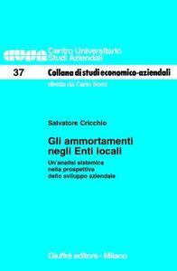 Libro Gli ammortamenti negli enti locali. Un'analisi sistemica nella prospettiva dello sviluppo aziendale Salvatore Cricchio
