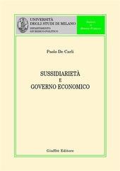 Sussidiarietà e governo economico