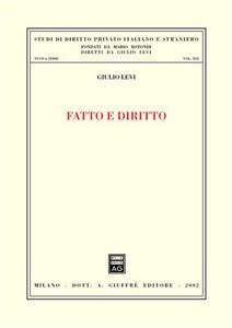 Libro Fatto e diritto Giulio Levi