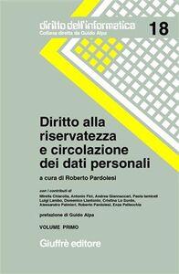 Libro Diritto alla riservatezza e circolazione dei dati personali