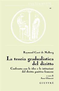 Libro La teoria gradualistica del diritto Raymond Carrè de Malberg