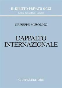 Libro L' appalto internazionale Giuseppe Musolino